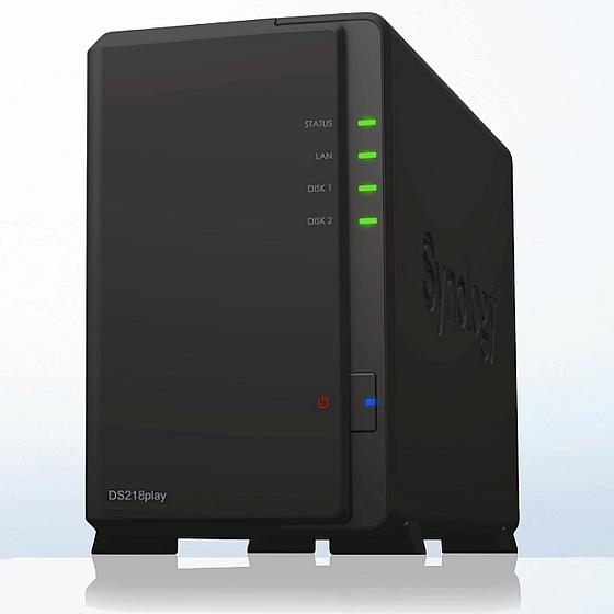 Synology NAS DS218play inkl. 2TB Bundle mit 1x 2TB HDs